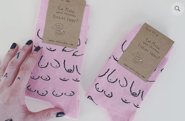 Tits Socks pink