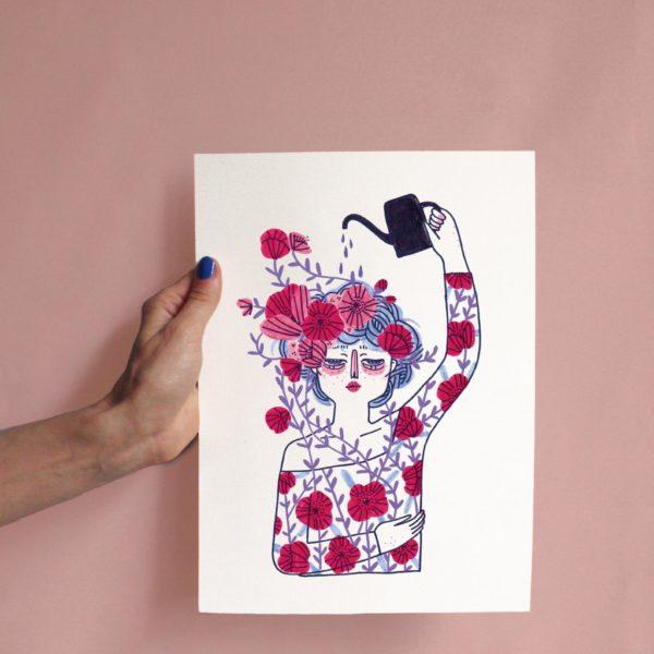 Bloom A4 print