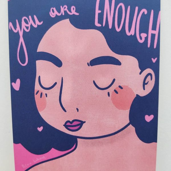 You are enough kaartje A6