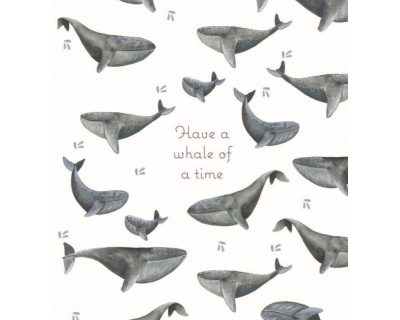Whale of a Time Wenskaart
