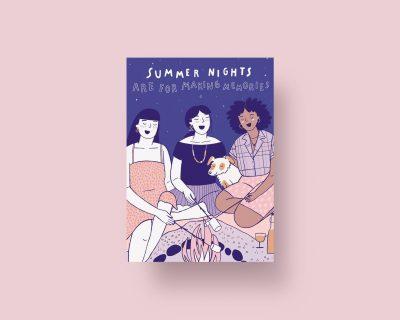 Summer Nights Ansichtkaart
