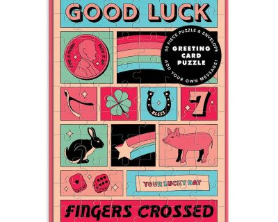 Good Luck Puzzelkaart –  60 stukjes